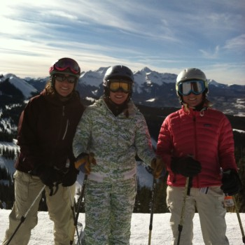 Another perfect December weekend skiing with girlfriends and family biking