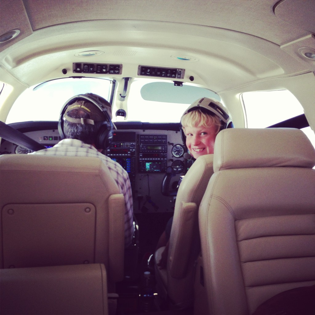 We had fun. My 8 year old actually got to be co-pilot on the way home and get his first flight lesson!