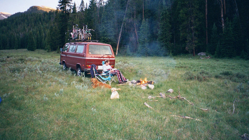 Camping in the Tetons, 2000
