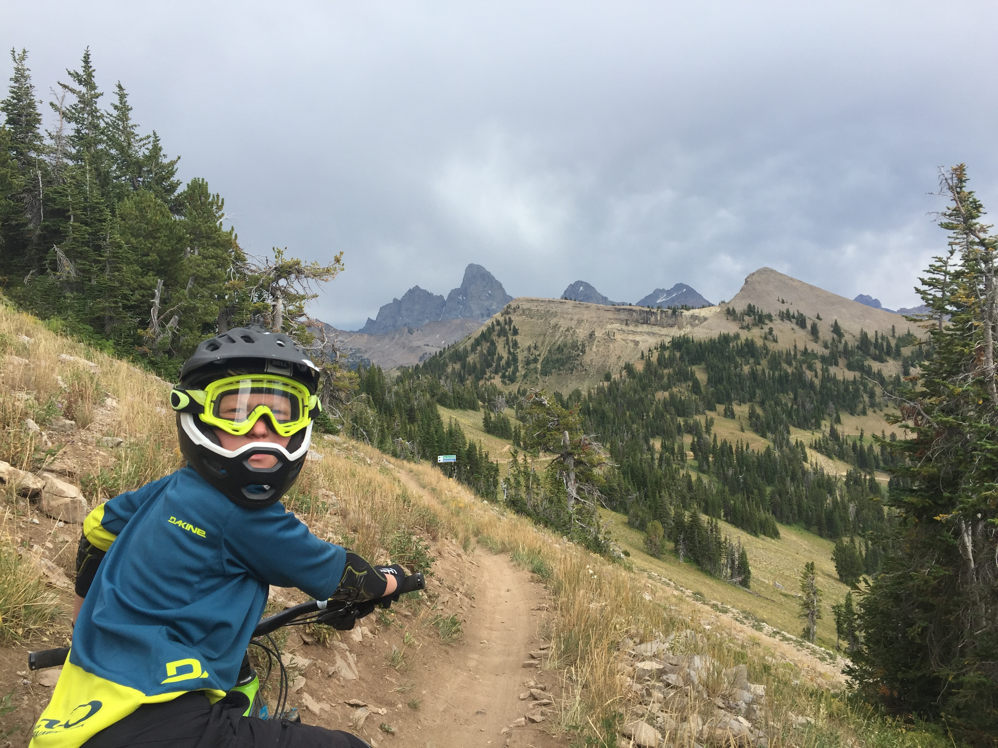Just off the lift on Grand Traverse you get a great view of the Tetons.