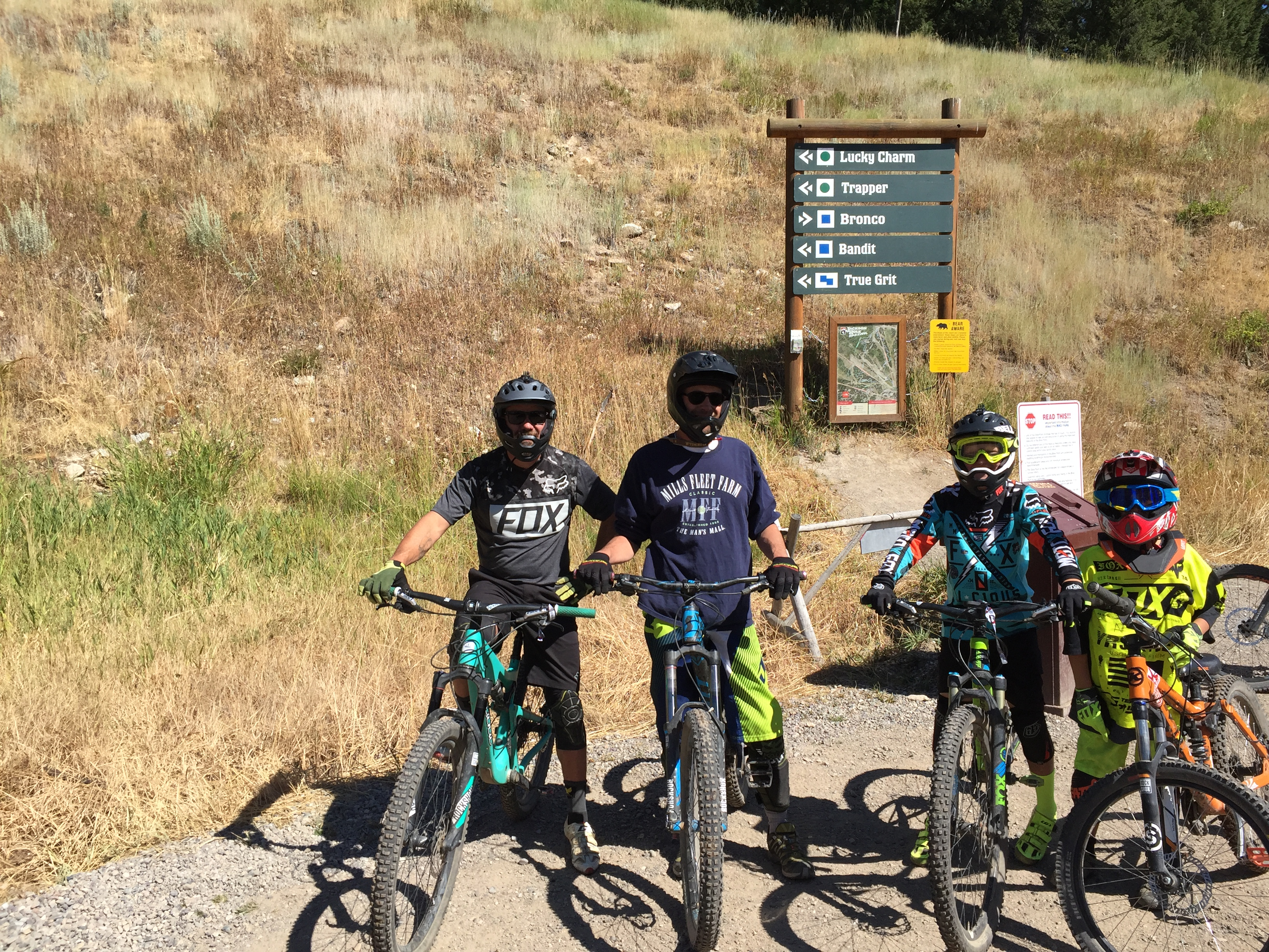 Randy, Brett, Kalden and Wolfi ready to drop in at Jackson Hole.
